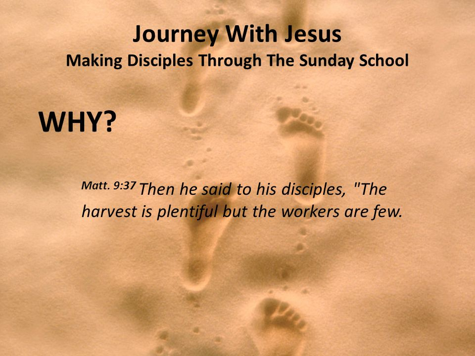 Journey With Jesus Making Disciples Through The Sunday School WHY.