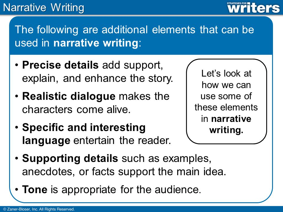 facts about narrative writing