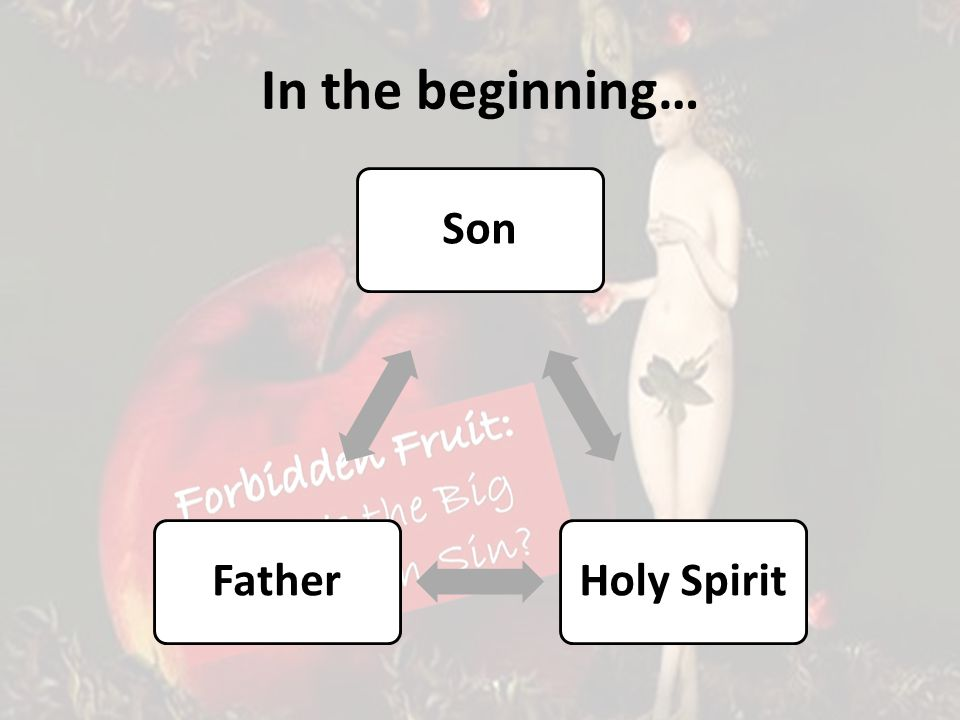 In the beginning… SonHoly SpiritFather