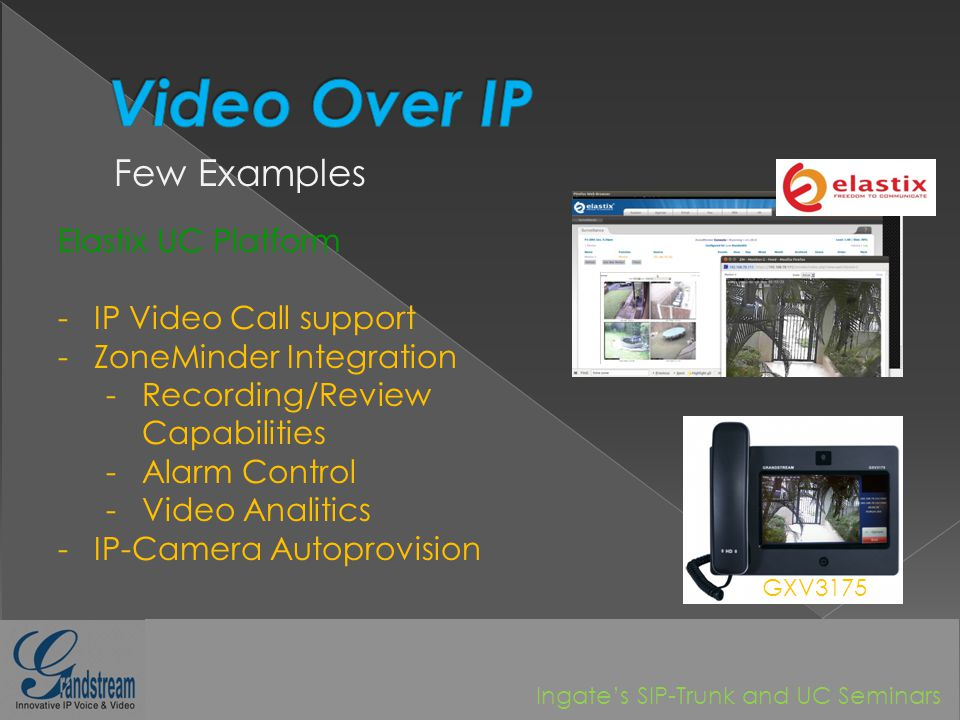 Video-over-IP Unified!! October, Ingates SIP-Trunk and UC