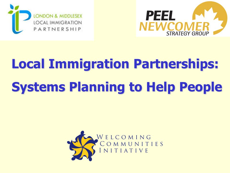 Local Immigration Partnerships: Systems Planning to Help People