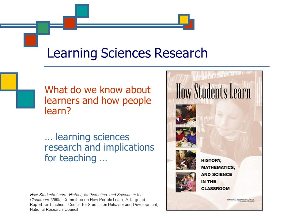 How Students Learn: Science in the Classroom (National Research Council)