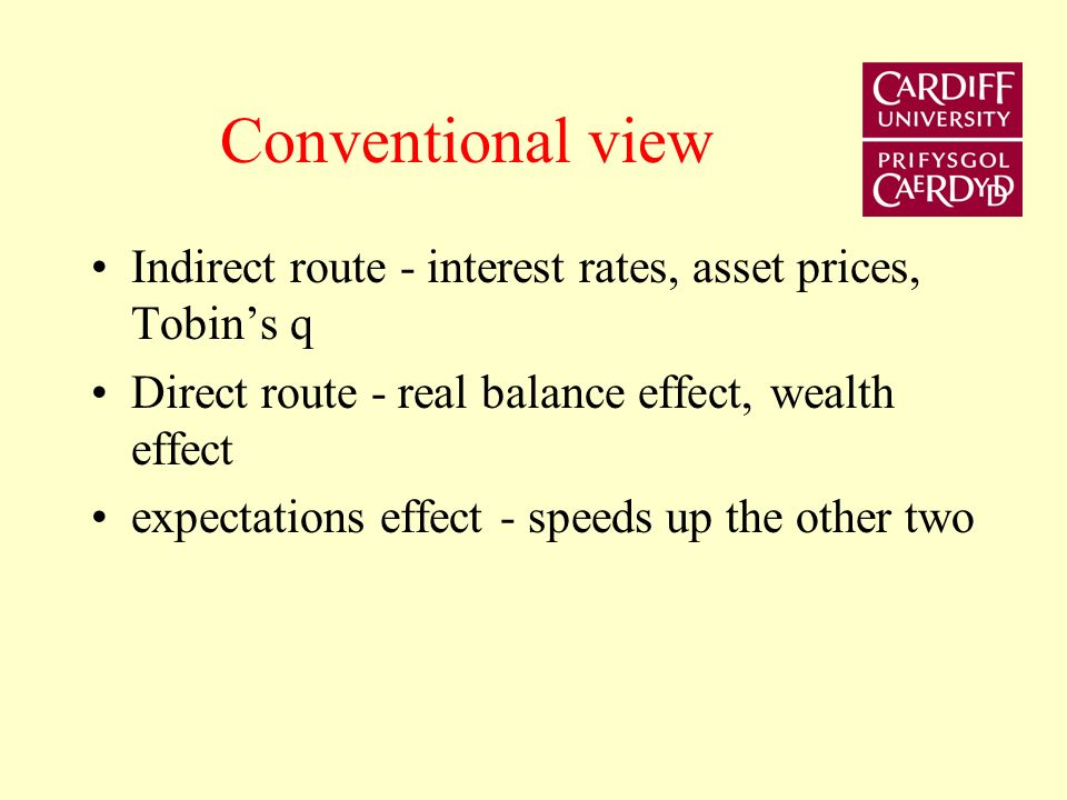 This lecture re-examines the transmission mechanism in the context of the credit channel.