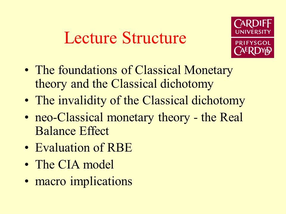 Lecture 2 The Microfoundations of Money - Part 1