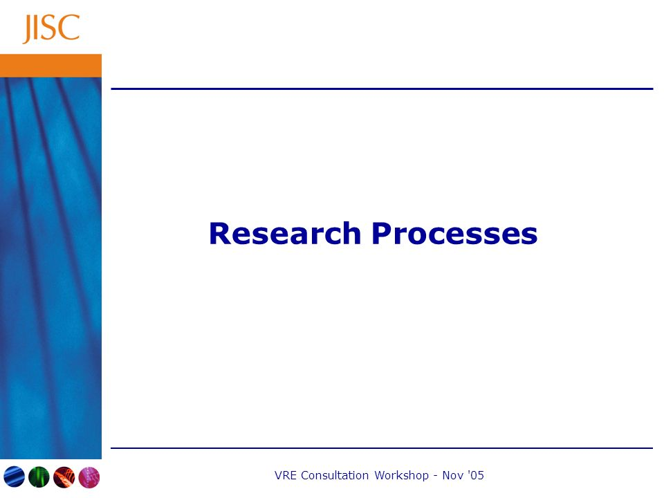VRE Consultation Workshop - Nov 05 Research Processes