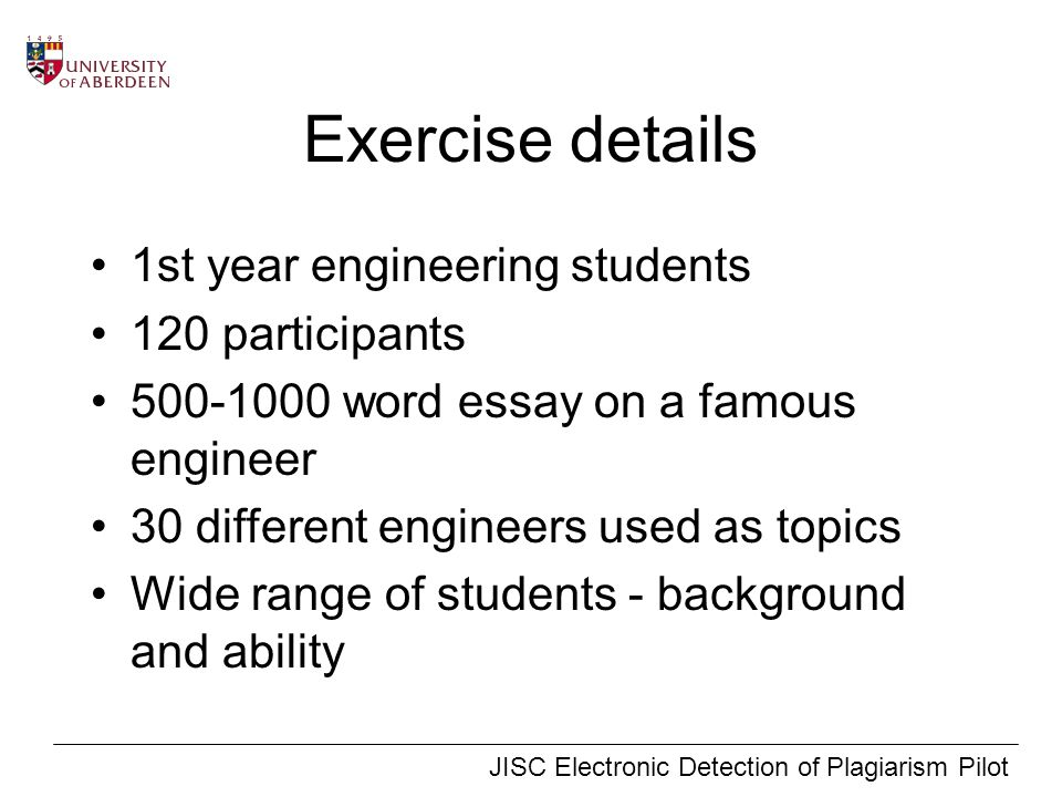 plagiarism detection exercises