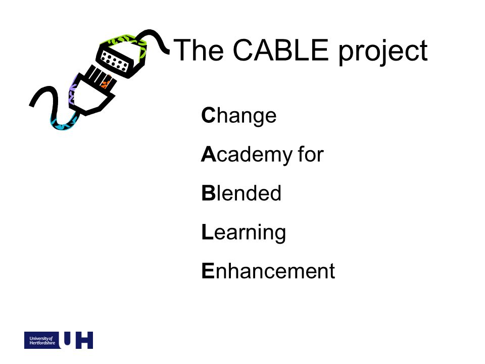 The CABLE project Change Academy for Blended Learning Enhancement