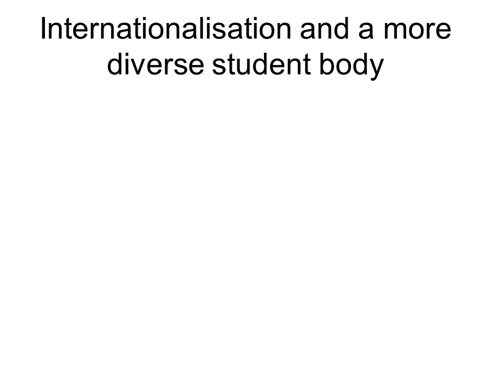 Internationalisation and a more diverse student body