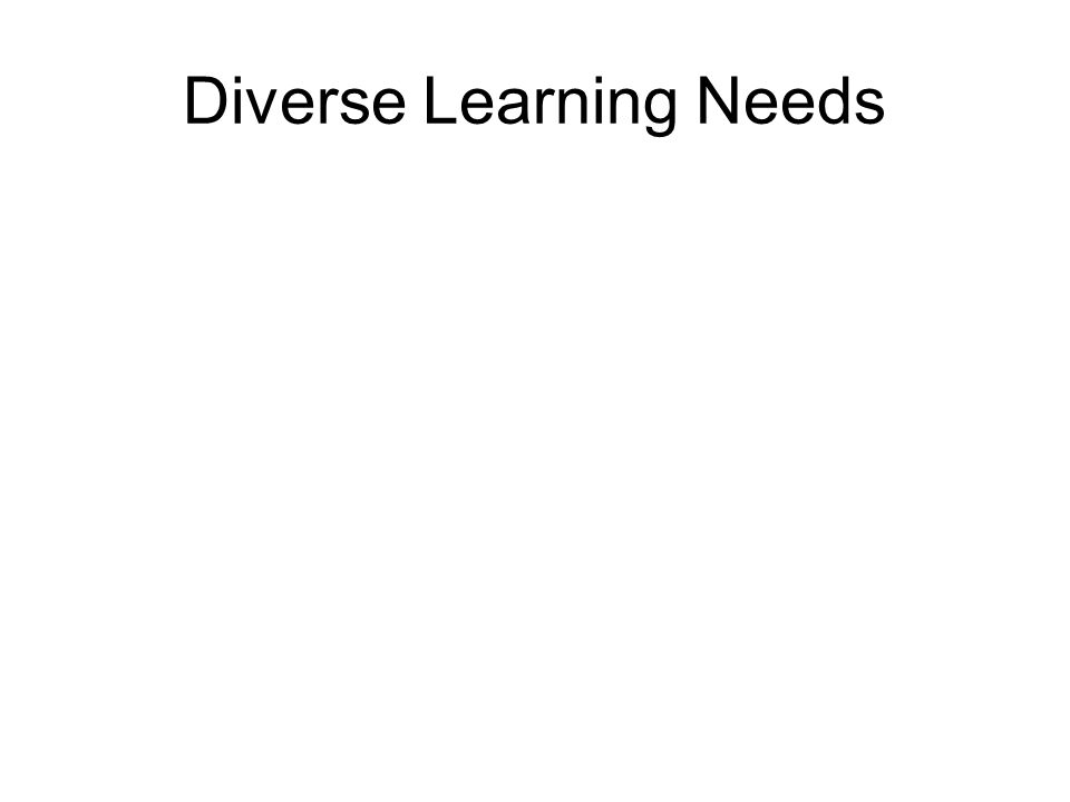 Diverse Learning Needs