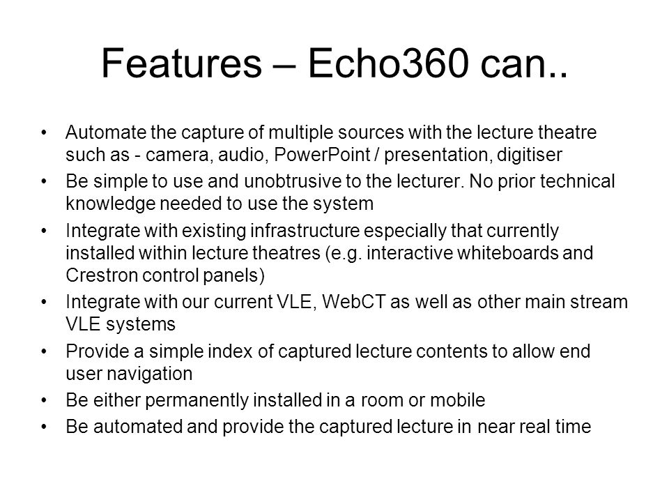 Features – Echo360 can..
