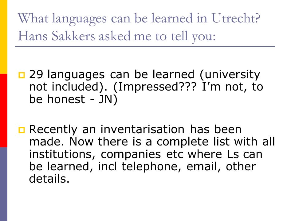 What languages can be learned in Utrecht.