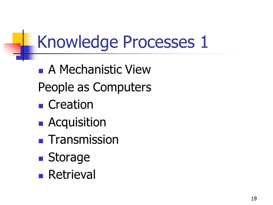 18 Information and Knowledge Work Systems DATA WORKERS: People who process & Disseminate organizations paperwork INFORMATION WORK: Work consists primarily of creating, processing information KNOWLEDGE WORKERS: People who design products or services or create new knowledge for organization