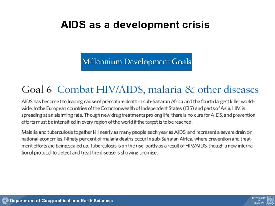 AIDS as a development crisis