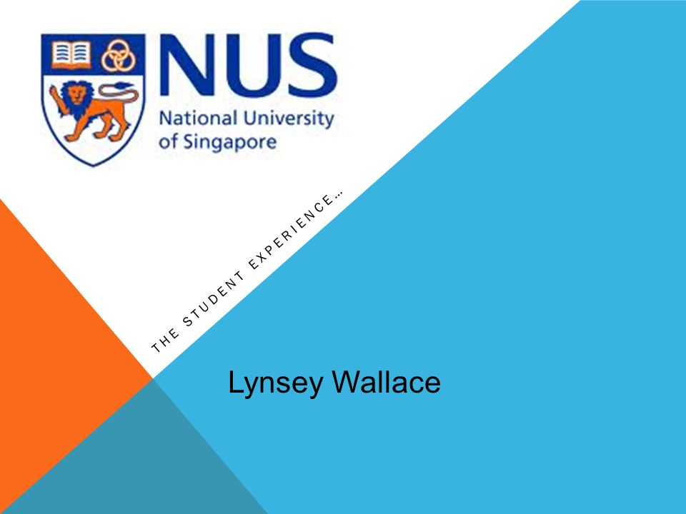 THE STUDENT EXPERIENCE… Lynsey Wallace