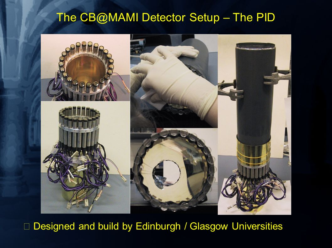 The CB@MAMI Detector Setup – The PID Designed and build by Edinburgh / Glasgow Universities