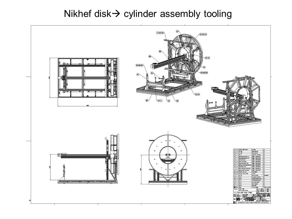 Nikhef disk cylinder assembly tooling
