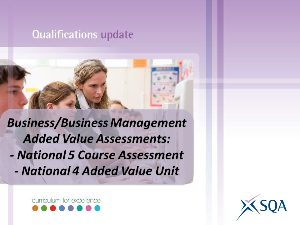 Business/Business Management Added Value Assessments: - National 5 Course Assessment - National 4 Added Value Unit