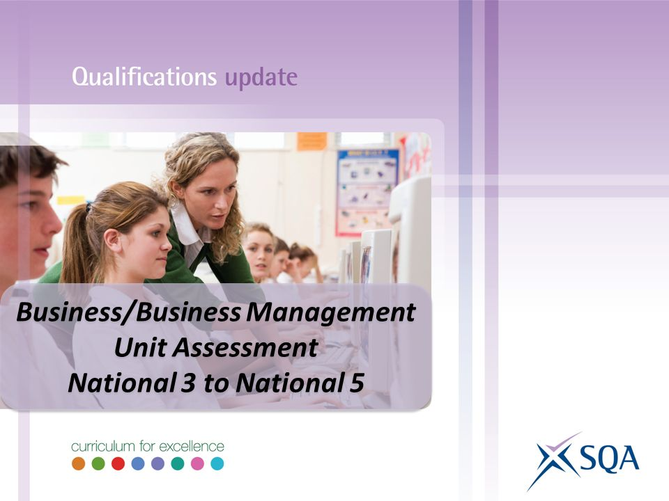 Business/Business Management Unit Assessment National 3 to National 5