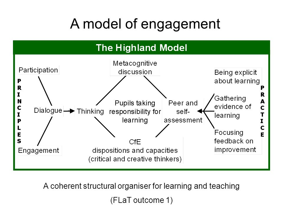 A model of engagement A coherent structural organiser for learning and teaching (FLaT outcome 1)