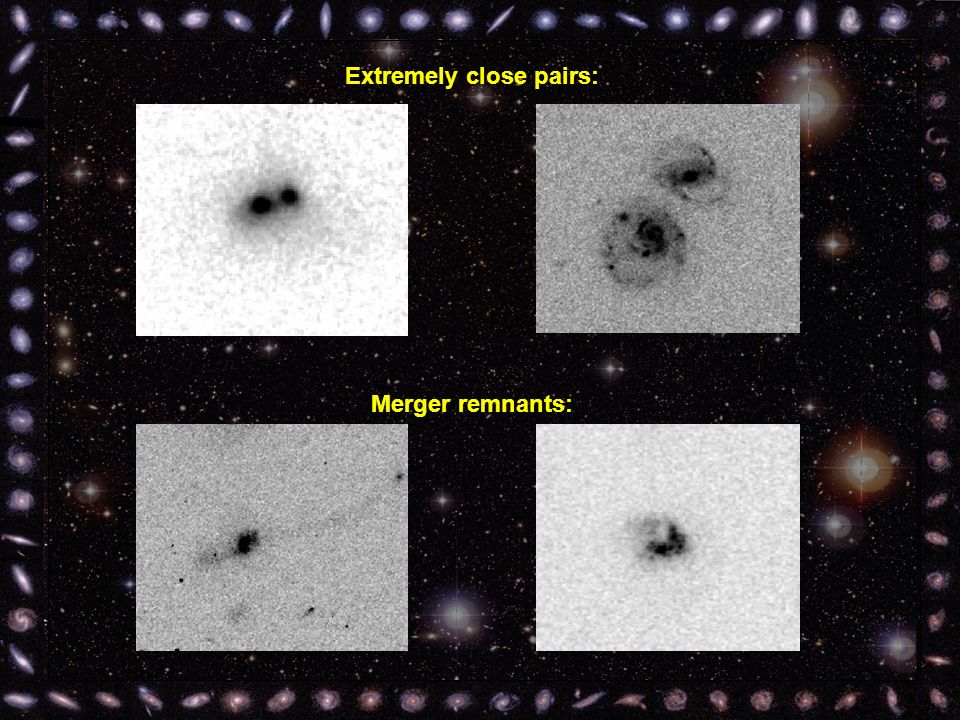 Extremely close pairs: Merger remnants: