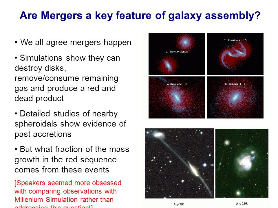 Are Mergers a key feature of galaxy assembly.