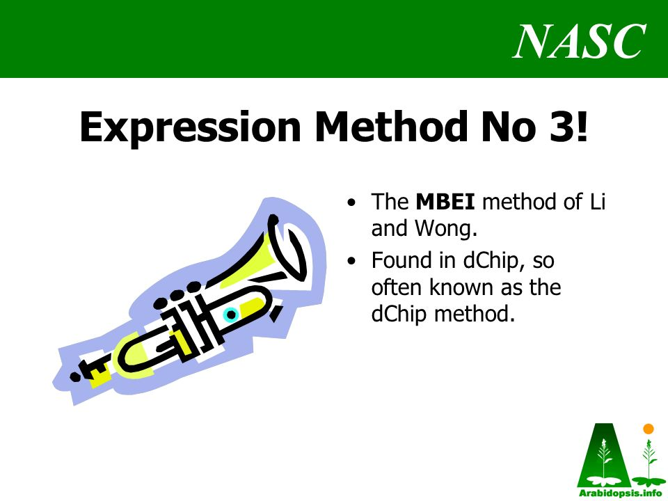 NASC Expression Method No 3. The MBEI method of Li and Wong.