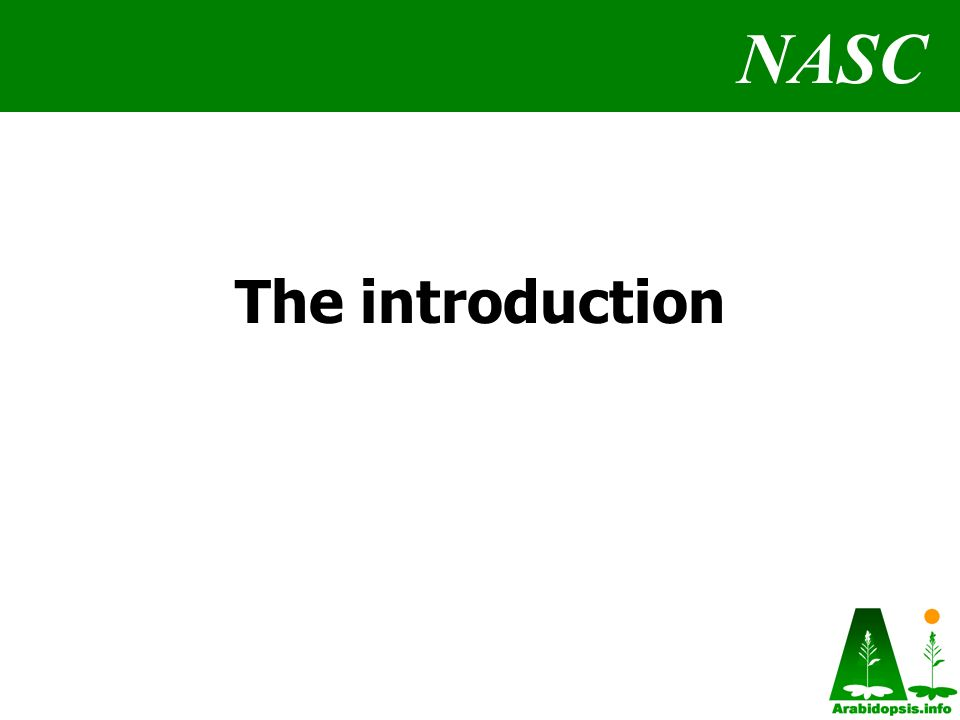 NASC The introduction