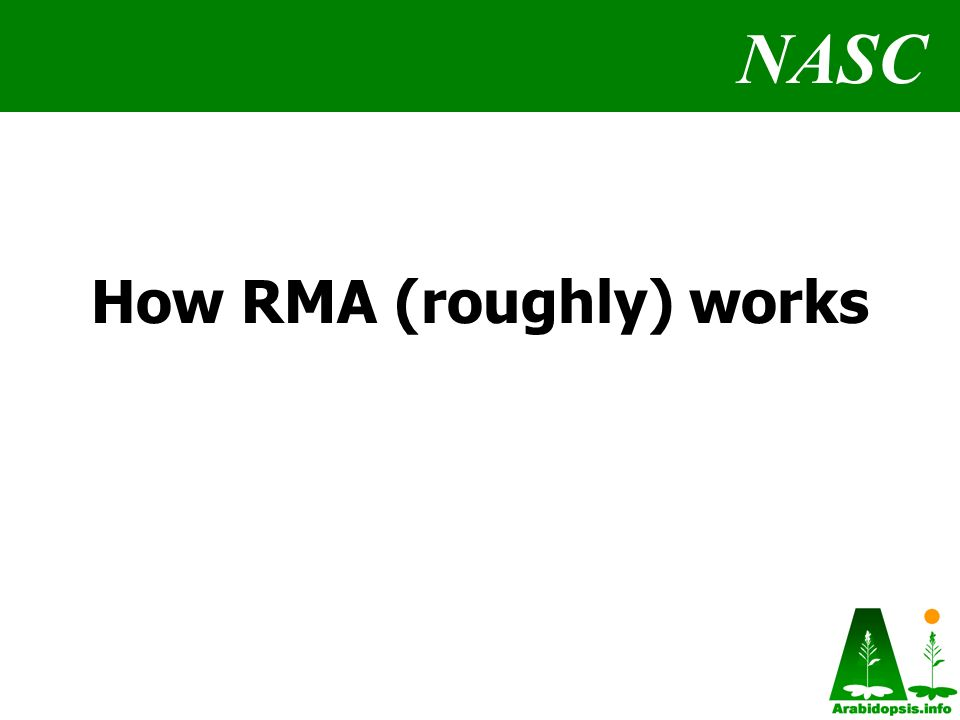 NASC How RMA (roughly) works