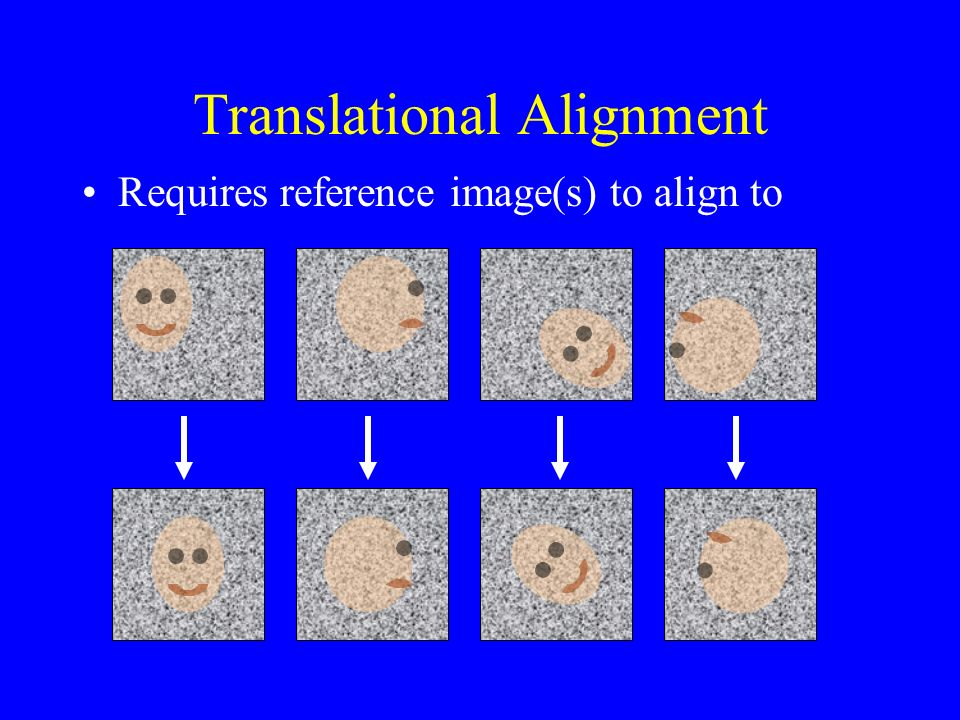 Translational Alignment Requires reference image(s) to align to
