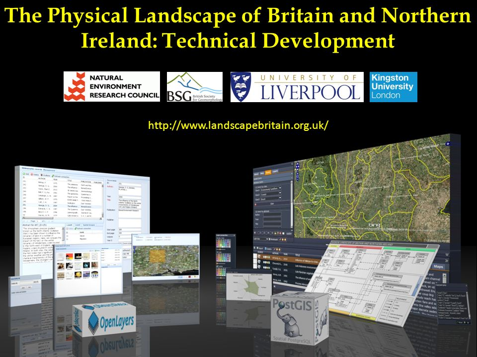 The Physical Landscape of Britain and Northern Ireland: Technical Development http://www.landscapebritain.org.uk/