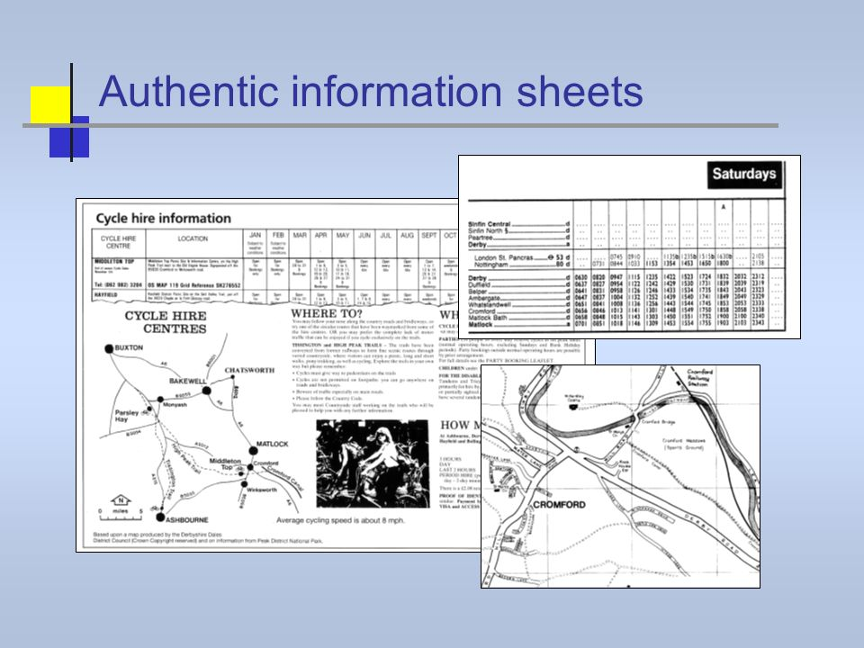 Authentic information sheets