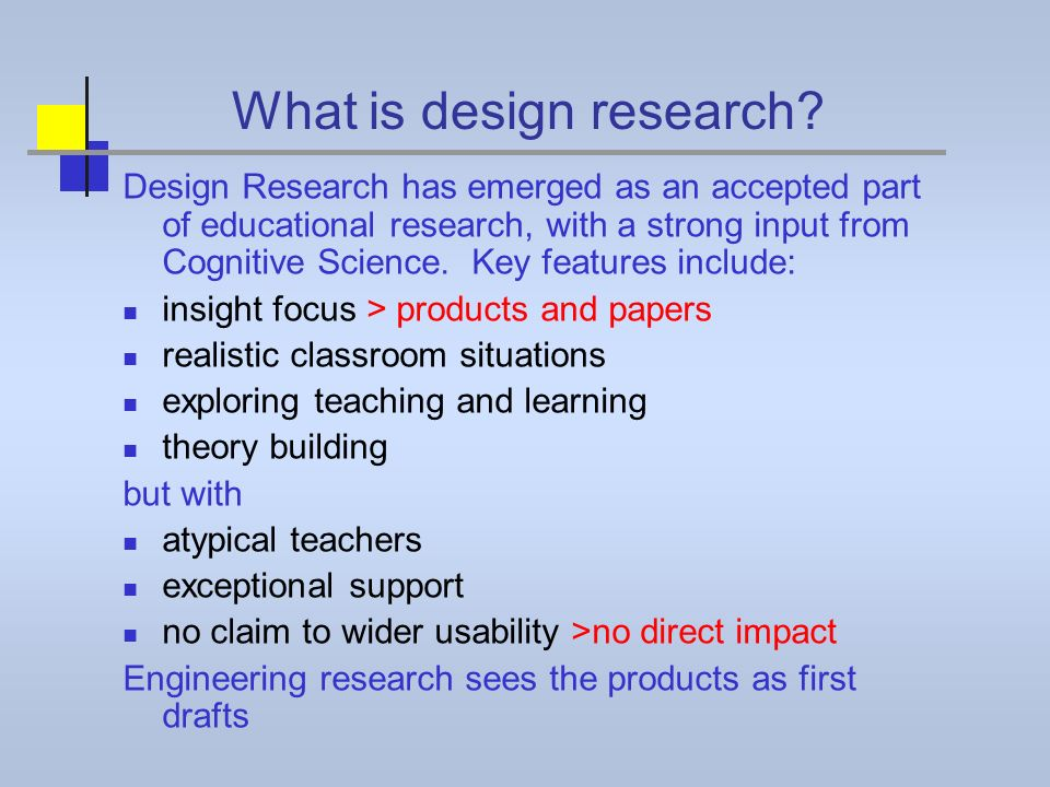 What is design research.