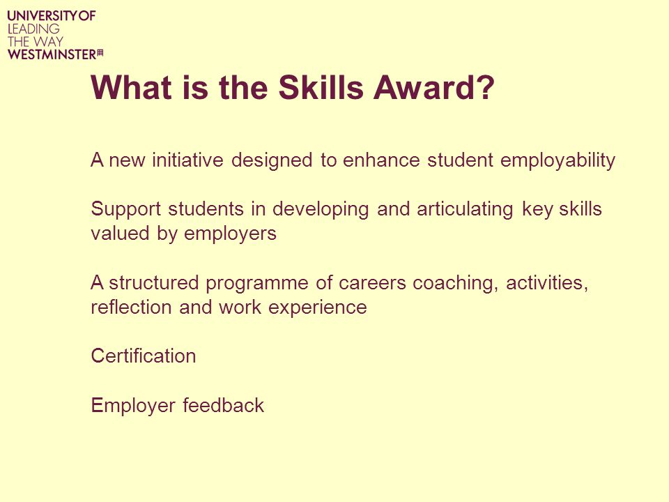 What is the Skills Award.