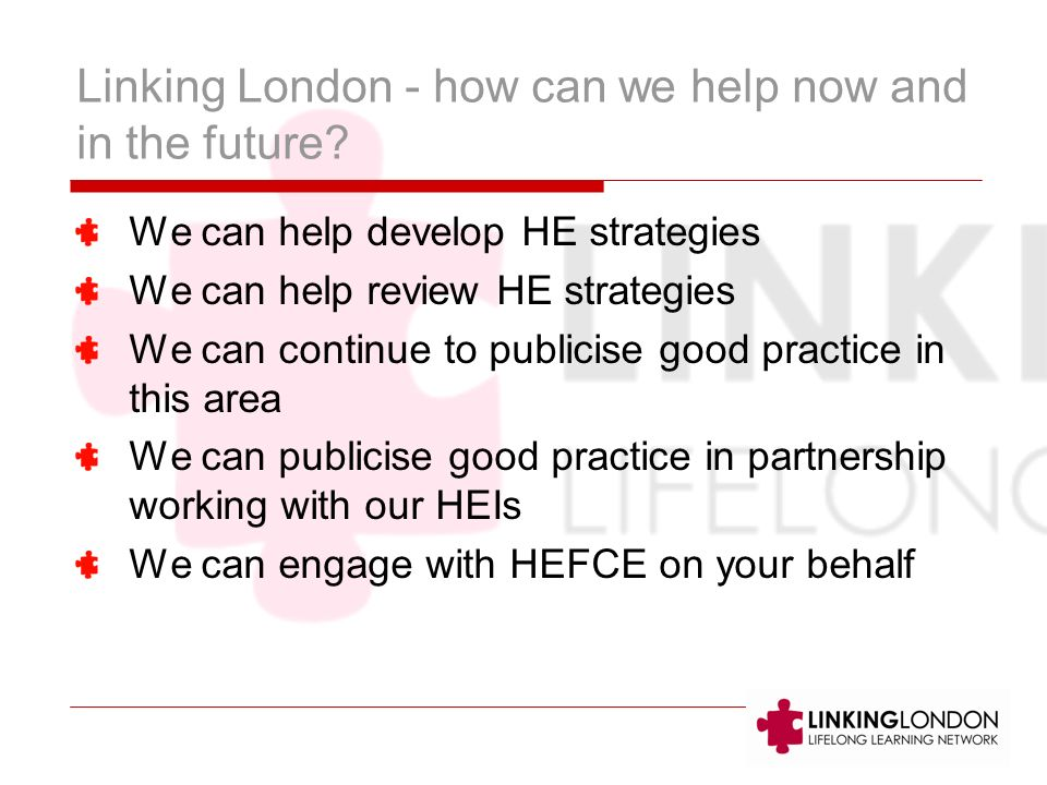 Linking London - how can we help now and in the future.