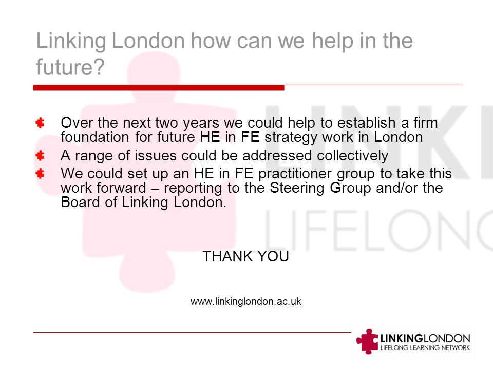 Linking London how can we help in the future.