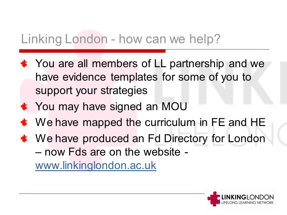 Linking London - how can we help.