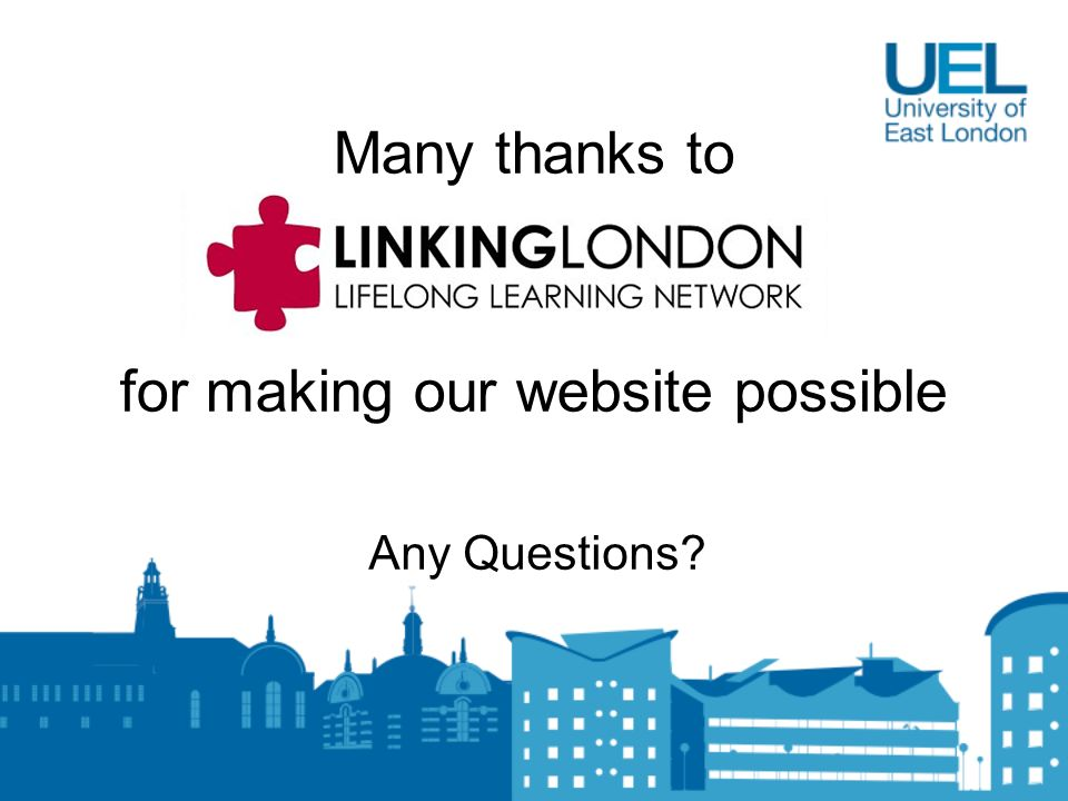 Many thanks to for making our website possible Any Questions