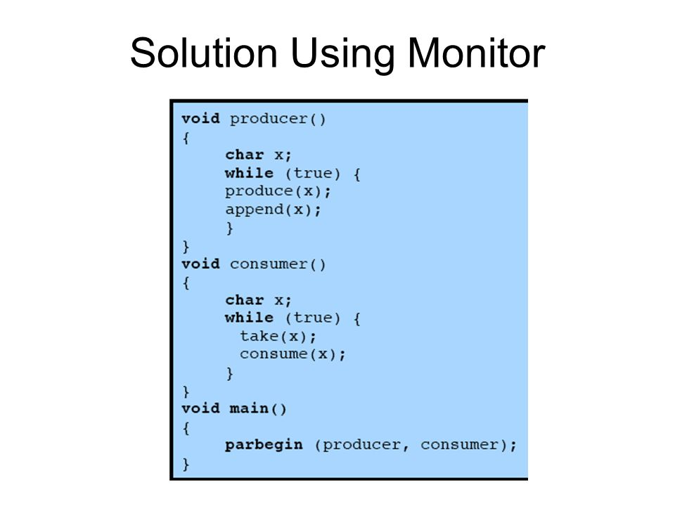 Solution Using Monitor