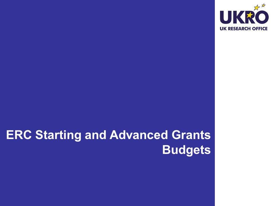ERC Starting and Advanced Grants Budgets
