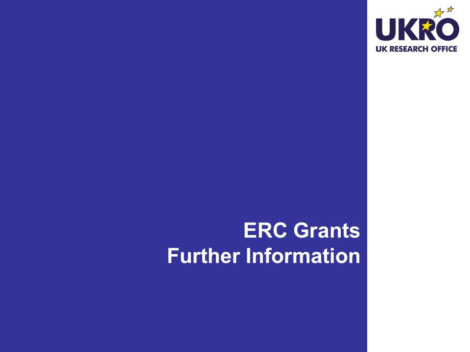 ERC Grants Further Information