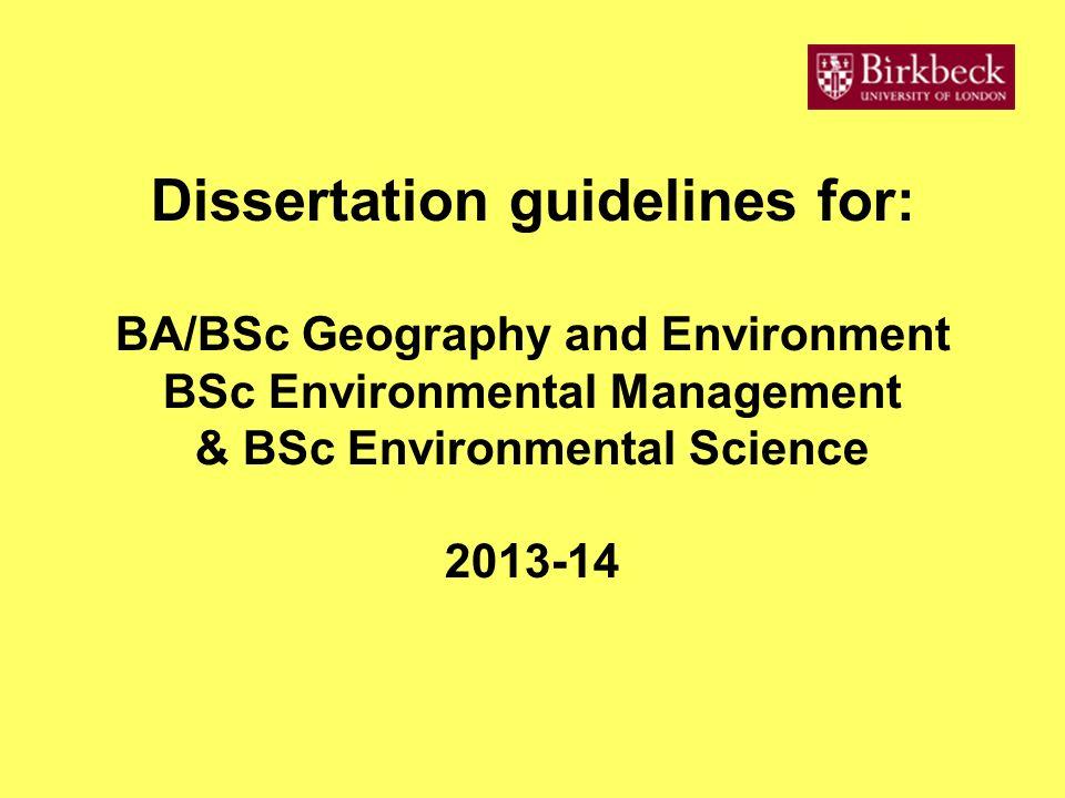 bbk geds dissertation