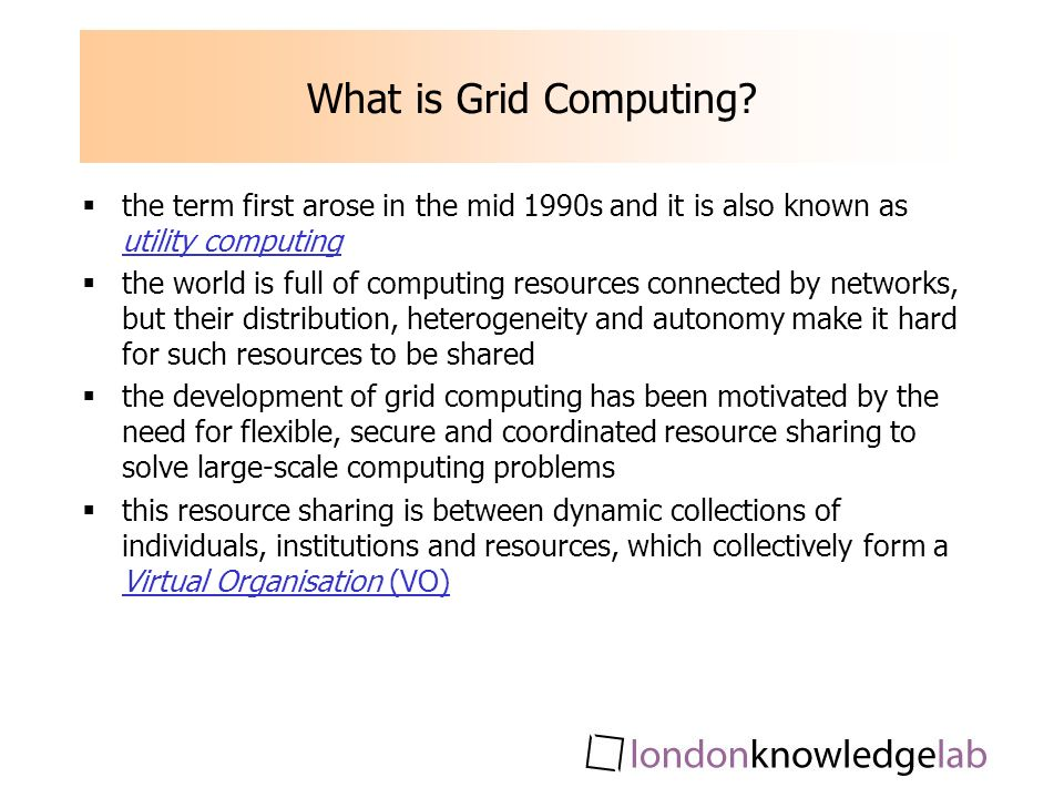 What is Grid Computing.