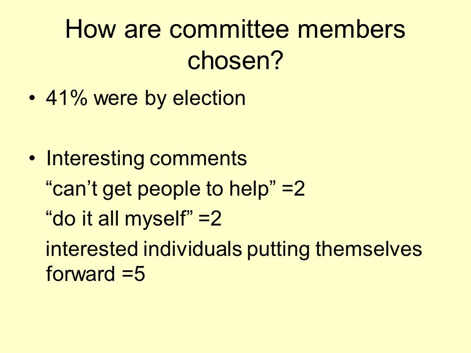 How are committee members chosen.