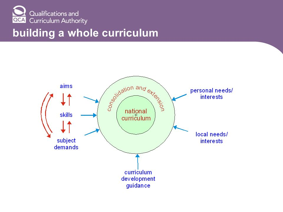 building a whole curriculum