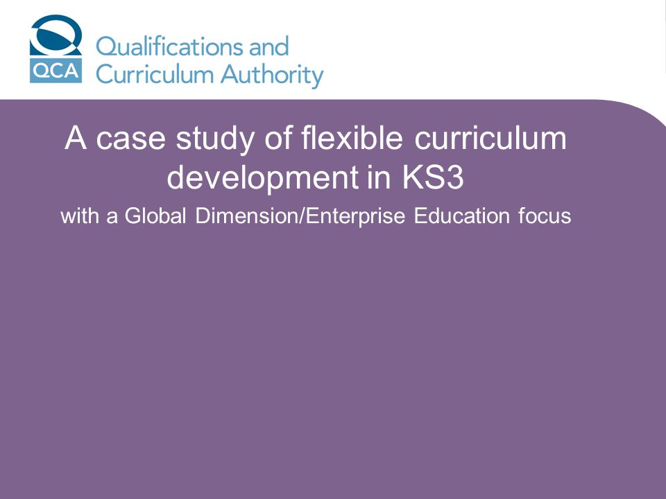 A case study of flexible curriculum development in KS3 with a Global Dimension/Enterprise Education focus