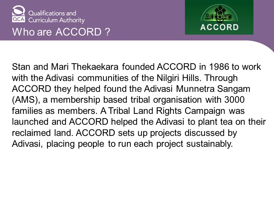 Who are ACCORD .