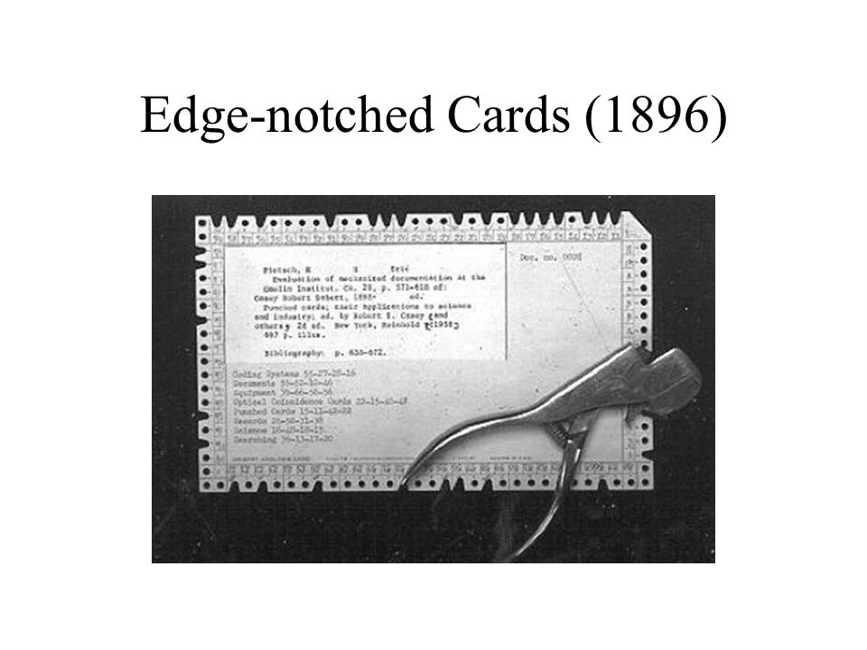 Edge-notched Cards (1896)