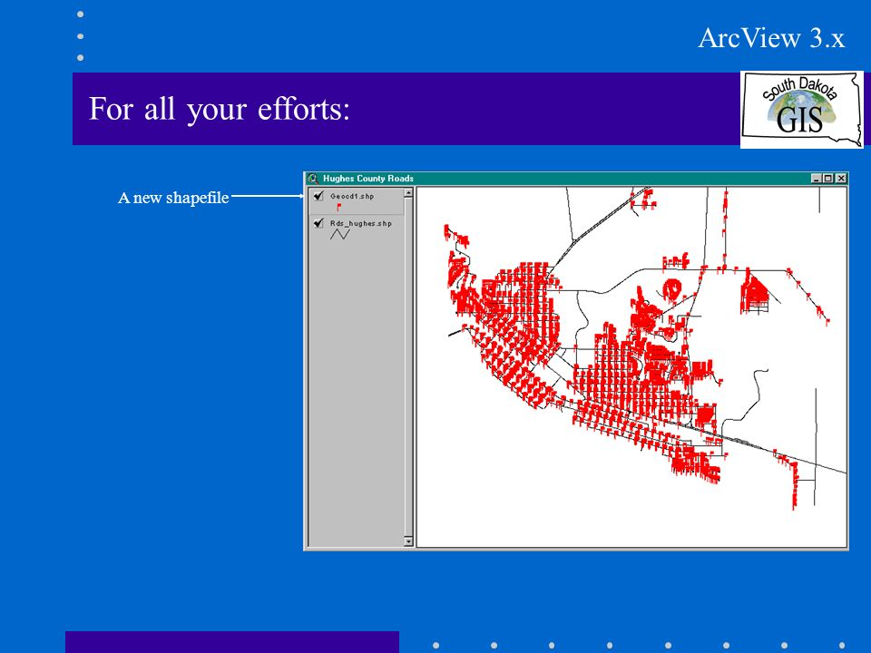 For all your efforts: A new shapefile ArcView 3.x