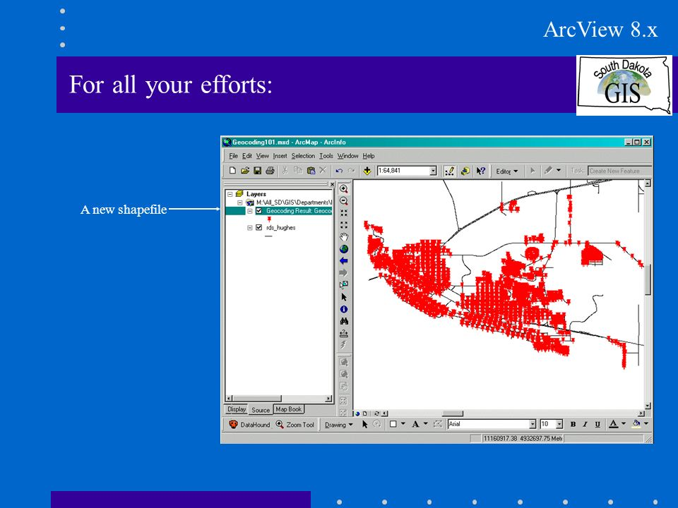 For all your efforts: A new shapefile ArcView 8.x