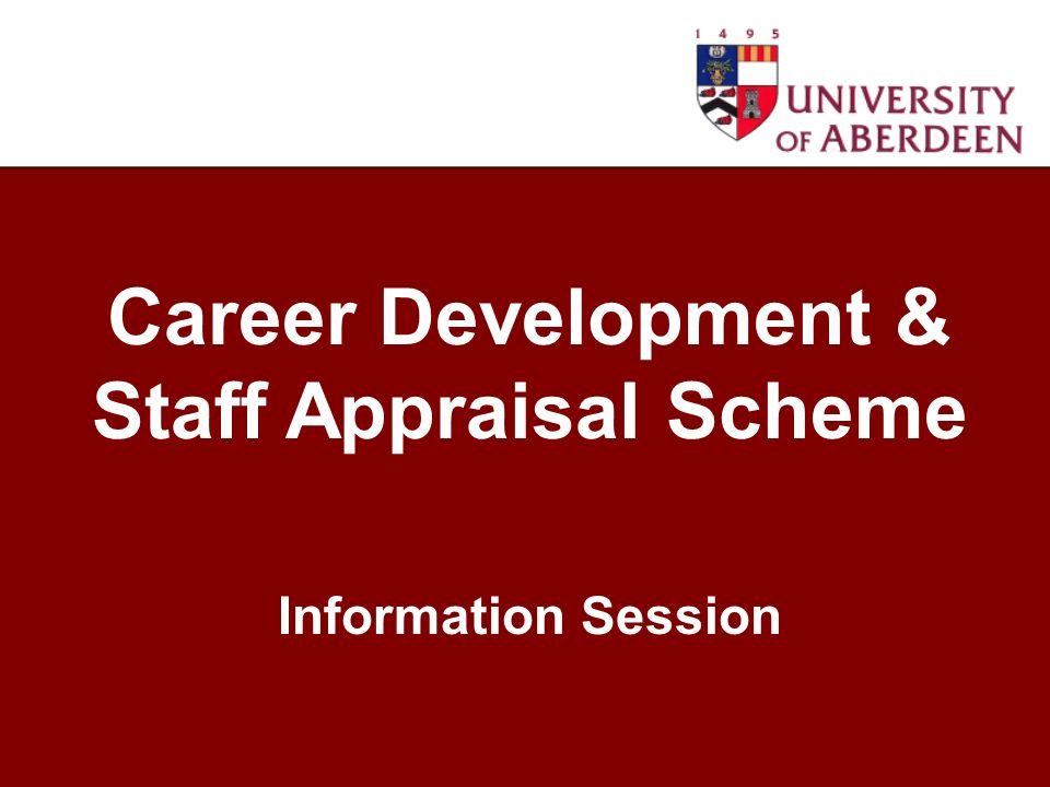 Career Development & Staff Appraisal Scheme Information Session